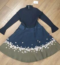 Ted Baker Lotis Floral Blossom Knit Wonderland Flare Dress size 3/UK12/US8
