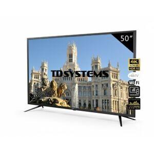 "Smart TV 50"" 4K UHD, Android 9.0, TD Systems K50DLJ10US-S [Tara técnica Outlet]"