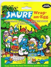 Smurf Wrap an Egg 1984 New in Sealed Package Easter Unlimited Smurfs Peyo