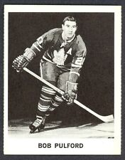 1965 COCA-COLA COKE  BOB PULFORD EX-NM  TORONTO MAPLE LEAFS HOCKEY CARD