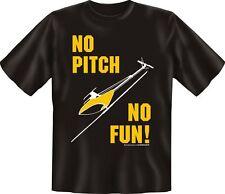 T-Shirt Hobby Modellbau Heli - No Pitch no fun -  Grösse  S - XXXL NEU