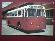POSTCARD WIGAN CORPORATION BUS NO 81 - 1952 LEYLAND PSU1
