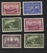 Canada  nice lot  of  $1  stamps  mint  hinged       MS0323