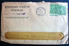 US PERFIN WESTERN UNION TELEGRAM COVER TACOMA WA 1931