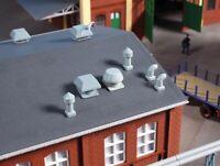 Auhagen 80103 Set Dachentlüfter, Bausatz, Spur H0