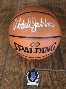 Lakers Kareem Abdul Jabbar Signed Basketball Beckett witness  official game ball
