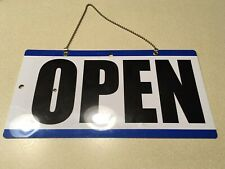 Open Closed Sign Chain 2 sided 11.5 x 6