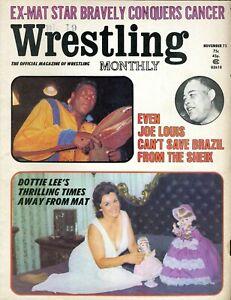 BOBO BRAZIL/JOE LOUIS/SHEIK Wrestling Monthly Magazine November 1973 DOTTIE LEE