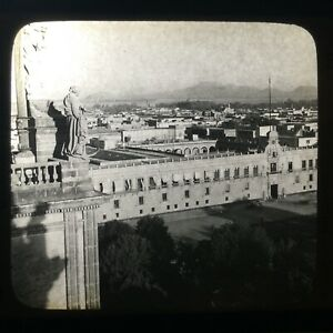 City of Mexico the Ancient Tenochtitlan of Mexico Magic Lantern Slide