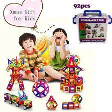 92pcs Magnetic Construction Building Blocks Educational Children Kids DIY Toys