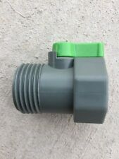 "1"" GARDEN WATER HOSE PVC SHUT OFF BALL VALVE THREADED NOZZLE COUPLING NEW!"