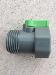 PVC Garden Hose Water Shut-Off Valve Heavy Duty Connector NEW!