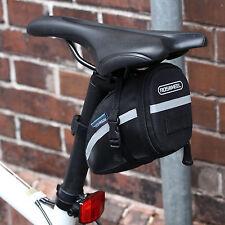 Black Waterproof Bike Cycling Saddle Bag Seat Pouch Bicycle Tail Rear Storage