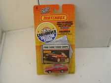 1989 MATCHBOX SUPERFAST FORD T-BIRD TURBO COUPE WIT CAR & DRIVER COLLECTOR CARDS