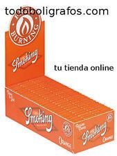 Caja de papel de fumar Smoking Orange,Naranja ,50 libritos, nuevo y precintado.