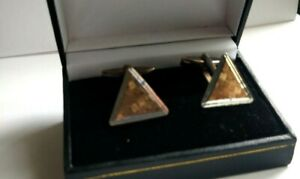 Beautiful Pair of Vintage 9ct Gold on Silver Cufflinks