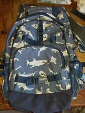 """Pottery Barn Kids """"Sharks"""" Medium Backpack w/ Coin Pouch - No Mono"""