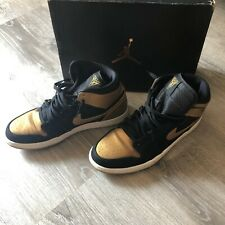 45d3a3f627fb Air Jordan 1 Retro Black Metallic Gold for sale | eBay