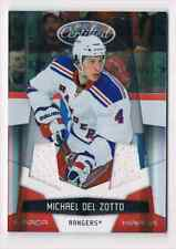 2010-11 CERTIFIED MIRROR RED DUAL JERSEY MICHAEL DEL ZOTTO 2 JERSEYS 1 COLOR