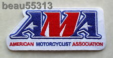 AMA AMERICAN MOTORCYCLE ASSOCIATION WHITE VEST JACKET PATCH