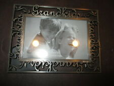 US: NEW GRANDKIDS 6x4 PEWTER PICTURE FRAME BY etc VERTICAL or HORIZONTAL