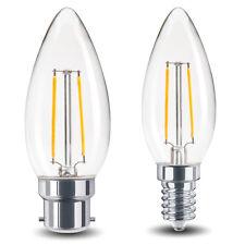 2 W LED Bombilla Vela B22 o E14 reemplazo para lámparas halógenas 20 W Claro