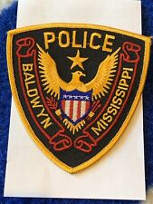 Baldwyn MS Police Dept Patch