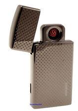 Cigarette Lighter - Silver Match Edgware USB Gunmetal - NEW