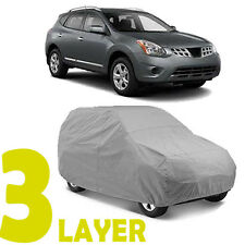 TRUE 3 LAYERS GRAY FITTED SUV COVER OUTDOOR WATER SUN RESISTANT for NISSAN ROGUE