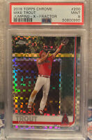 2019 Topps Chrome MIKE TROUT Jumping Xfractor #200 - ANGELS  PSA 9 Mint Invest