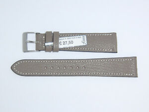 """FLUCO Genuine Vintage Leather Watch Band Strap 20 mm Taupe """"Montana-Ziege"""""""