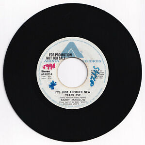 Philippines BARRY MANILOW It's Just Another New Years Eve 45 rpm PROMO Record