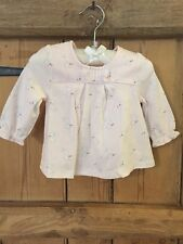 Baby Girls Mini Club Bunny Pink Long Sleeve Top Size 0-3 Months BNWT