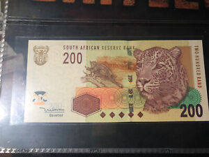 South Africa 2005 200 Rand Banknote UNC AA First Prefix