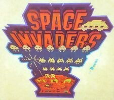 Original Space Invaders Iron On Transfer Taito Midway Bally Video Game Classic