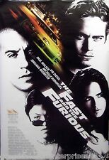 The Fast And The Furious 40x60 Giant Subway Size Movie Poster Paul Walker