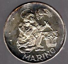 """San Marino 500 Lira 1975 """"Heiliger Marinus"""" in Stempelglanz"""