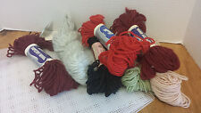 Bulk Lot Skeins of Bucilla Tapestry wool Yarn & 4 plastic panels vintage B