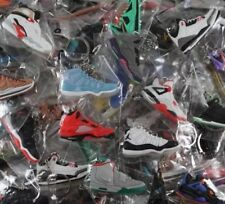 Lot of 25 Nike Air Jordan, Yeezy, Lebron, Misc. Shoe Keychains - Random Picks