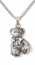 Langdale Teddy Pendant Handcrafted in Solid Pewter In The UK + Free GiftBox PN37