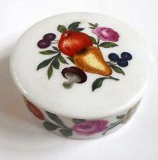 "Vtg Limoges Trinket Box Hand Painted Floral Round 1973 Bicentennial 3"""