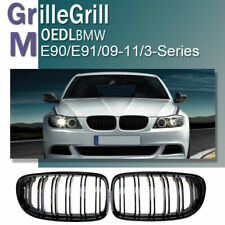 For 2009-2011 BMW E90 E91 LCI 325i 328i 4D Front Kidney Grill Grille Gloss Black