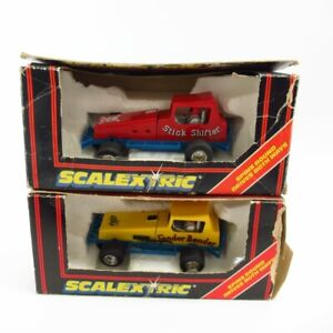 Scalextric Spinning Super Stox Cars Stick Shifter & Fender Bender Vintage Boxed