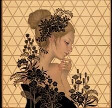 """Maybe Tomorrow Giclee Print by Audrey Kawasaki Signed & Numbered 21"""" x 21"""""""