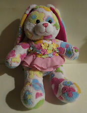 Build A Bear Bunny Rabbit Plush Spring Flowers w.Dress
