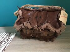 Jamin Puech Small Leather Shoulder Bag With Fringes And Rivets Rope Handle Brow