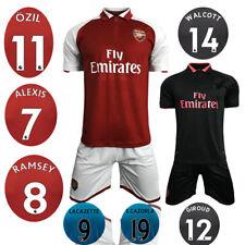 Arsenal home red soccer kits away black football sets sports jersey and shorts