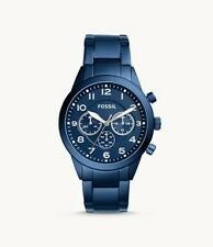 new authentic Fossil Flynn Pilot Chronograph Blue Stainless Steel Watch bq2275