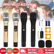 Wireless 2 Microphone UHF 25 Channel Dual Handheld Karaoke Mic Cordless 2 Colors