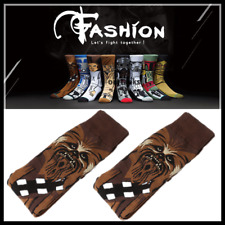 5 Pairs Chewbacca Star Wars Funny Athletic Cotton Men's Crew Socks CHEWIE Medium